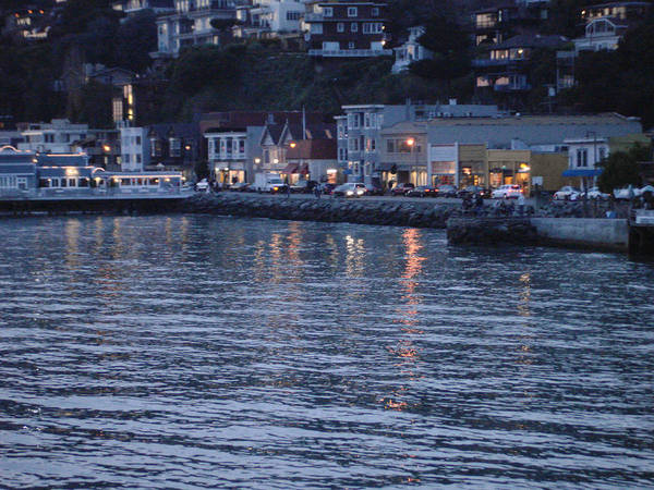 A Scenery Of Sausalito At Dusk Poster