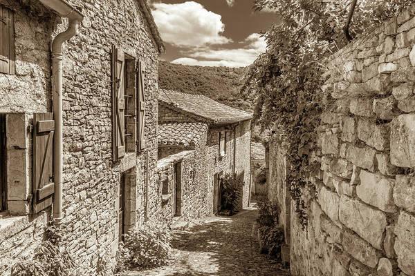 A Stone Lane In Bruniquel Poster