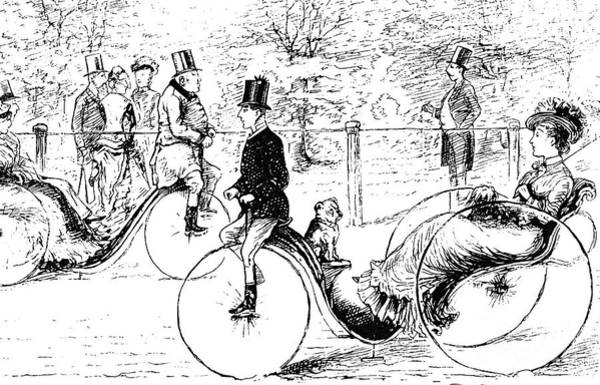 A Suggestion For The Park  Vintage Illustration From Punch Magazine 1878 Poster