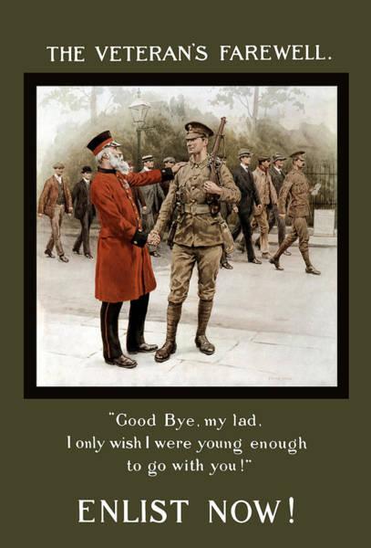A Veteran's Farewell - Ww1 Poster