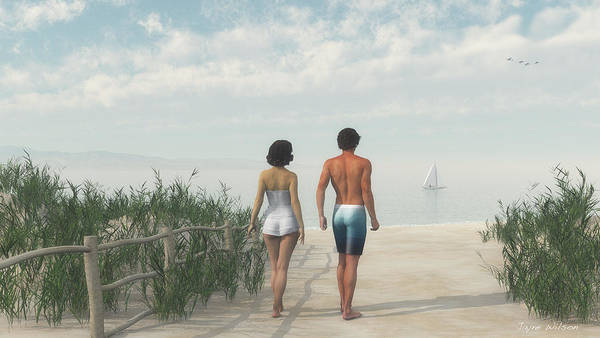 A Walk In The Sand Dunes Poster