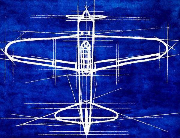 A6m Zero Blueprint Poster