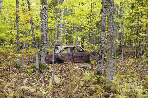 Abandoned Car- Woodstock New Hampshire Poster