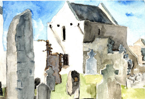 Abbey Watercolor Poster