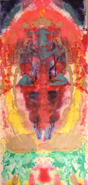 Poster featuring the painting Abstract Ganesha by Brian c Baker