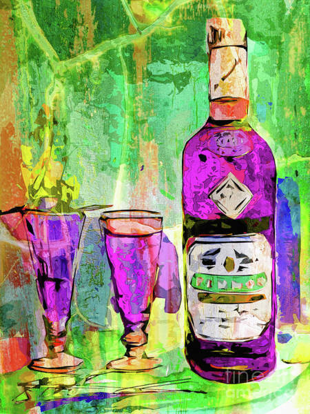 Abstract Modern Absinthe Pop Art Poster
