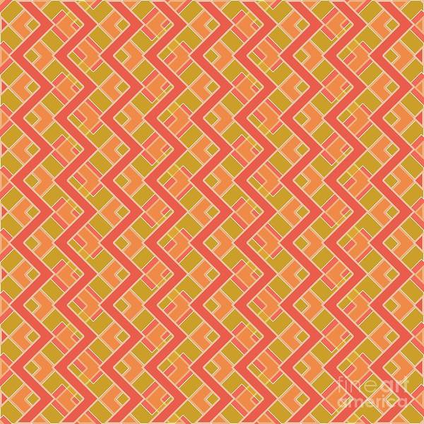 Abstract Orange, Red And Brown Pattern For Home Decoration Poster