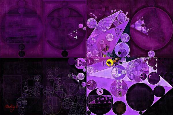 Abstract Painting - Rich Lilac Poster