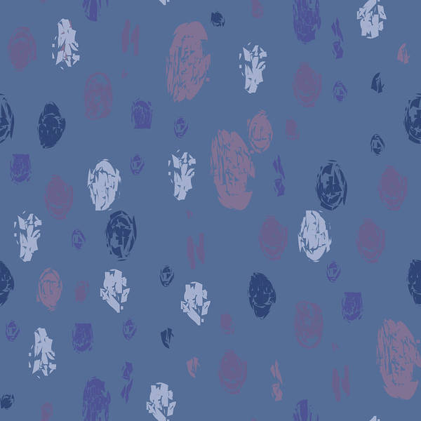 Abstract Rain On Blue Poster