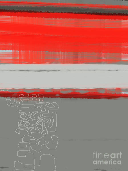Abstract Red 1 Poster