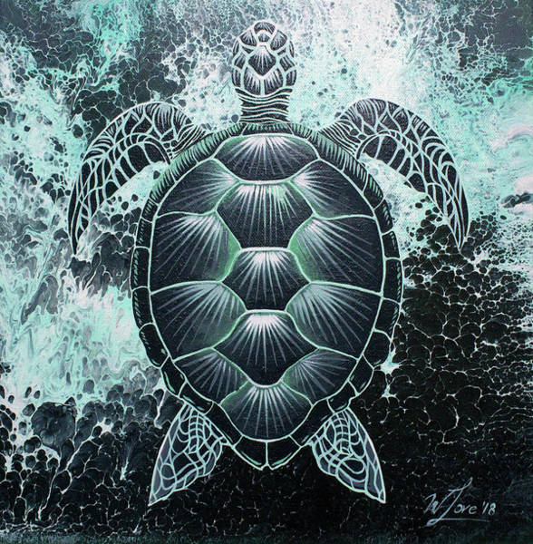Abstract Sea Turtle Poster