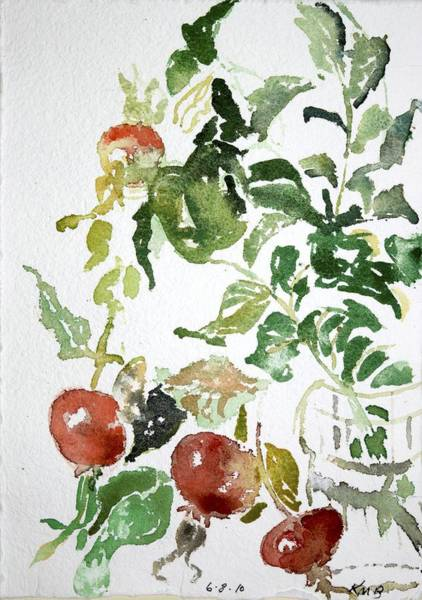 Abstract Vegetables Poster