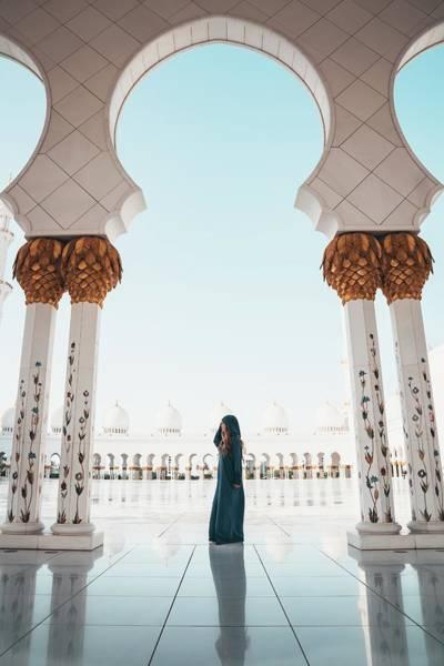 Abu Dhabi Mosque Poster