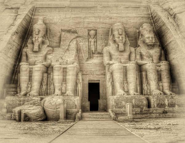 Abu Simbel Antiqued Poster