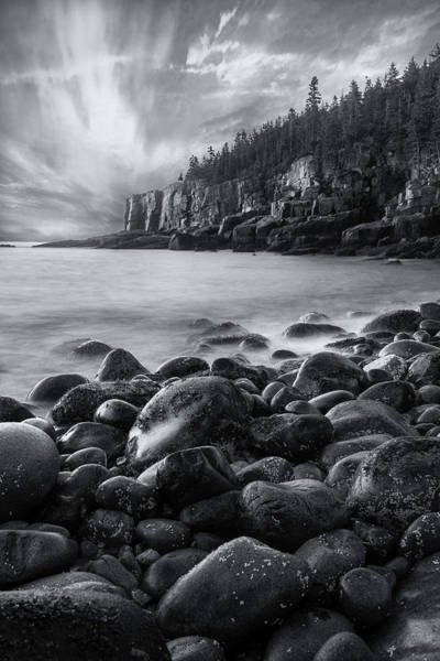 Acadia Radiance - Black And White Poster