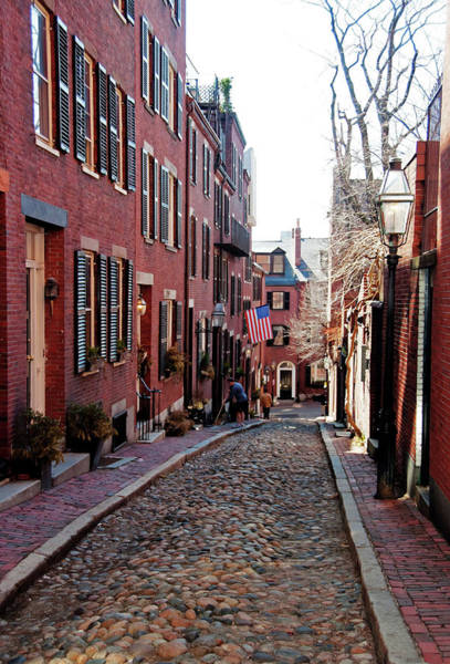 Poster featuring the photograph Acorn Street Beacon Hill by Wayne Marshall Chase