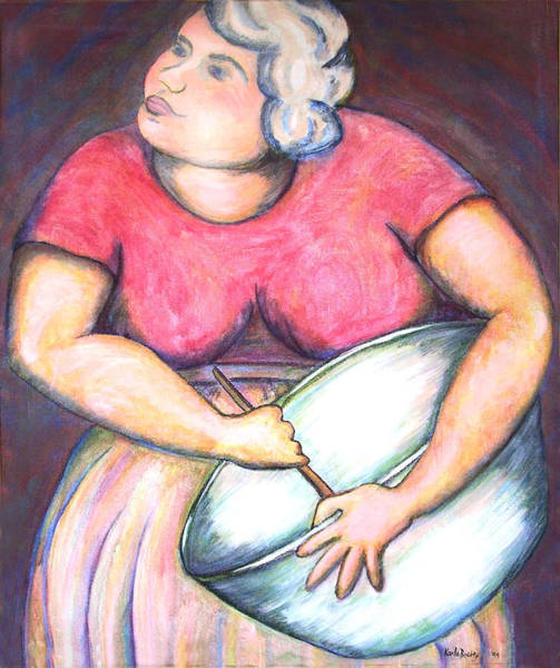 Acrylic Painting Figurative Poster