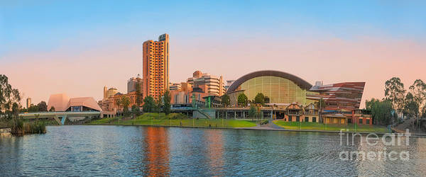 Adelaide Riverbank Panorama Poster