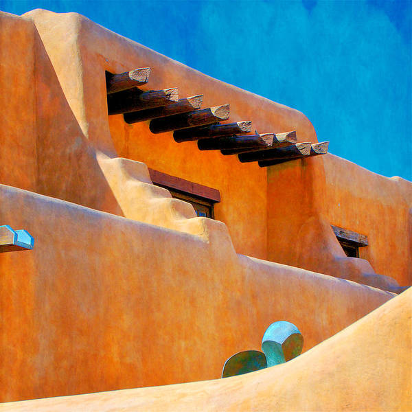 Adobe Levels, Santa Fe, New Mexico Poster