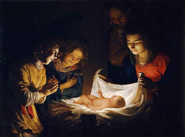 Adoration Of The Child Poster