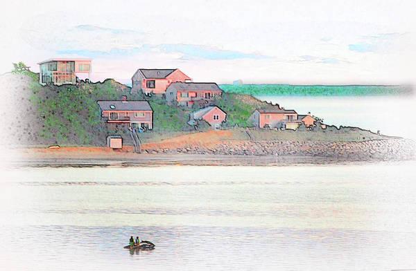 Adrift On The Bay At Sunset Poster