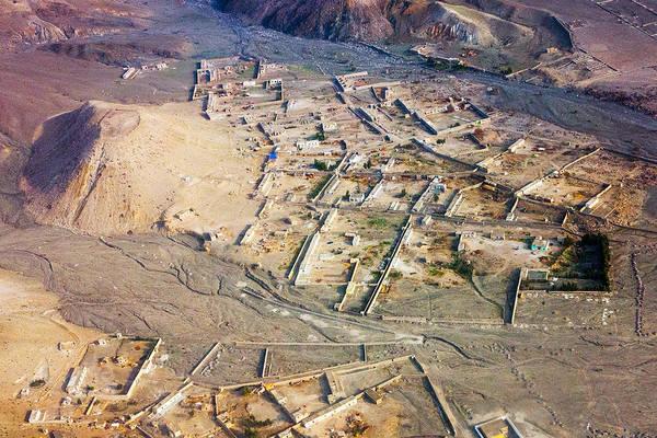 Afghan River Village Poster