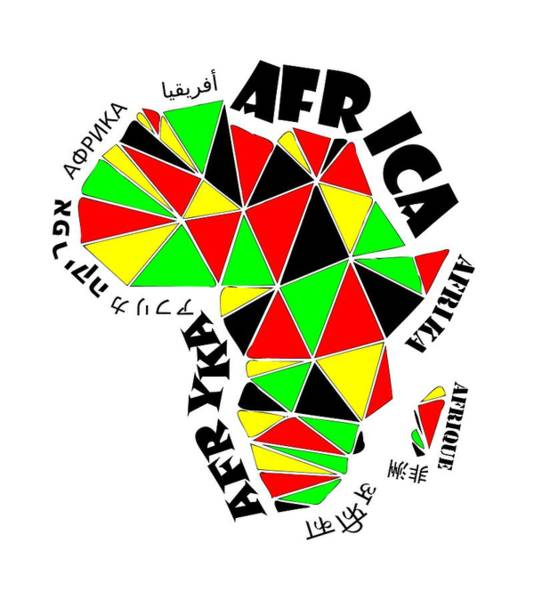 Africa Continent Poster
