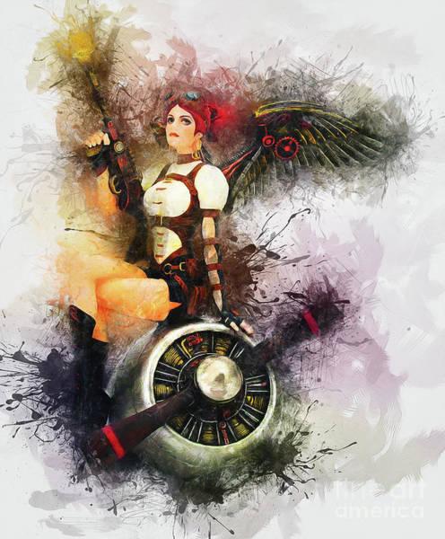 Aircraft Girl Poster