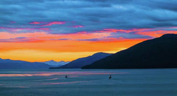 Alaska Fishermans Sunset Poster