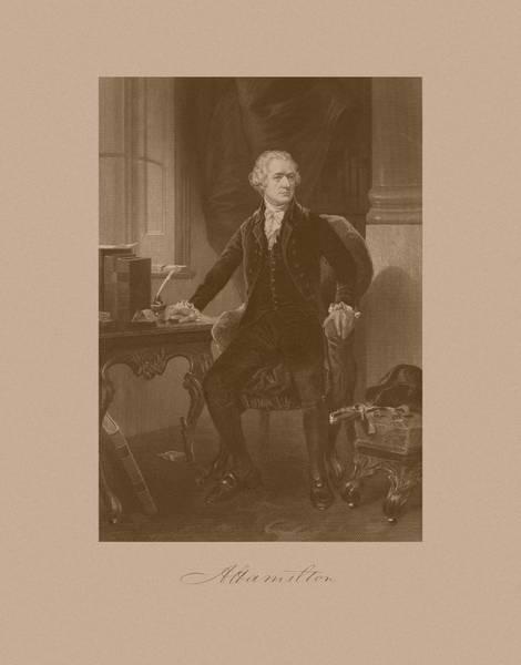 Alexander Hamilton Sitting At His Desk Poster