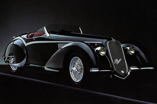 Alfa Romeo 8c 2900 Mercedes Benz Poster