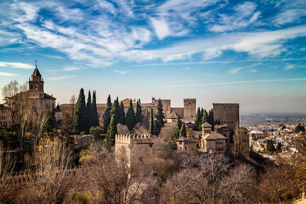 Alhambra Over Granada Poster