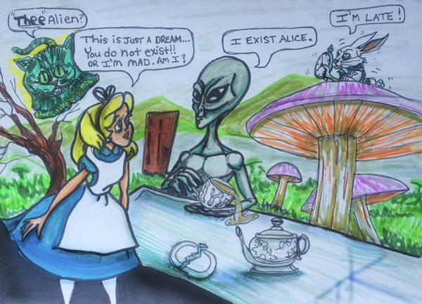 Alien In Wonderland Poster