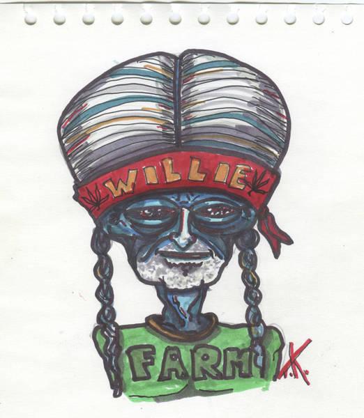 alien Willie Nelson Poster