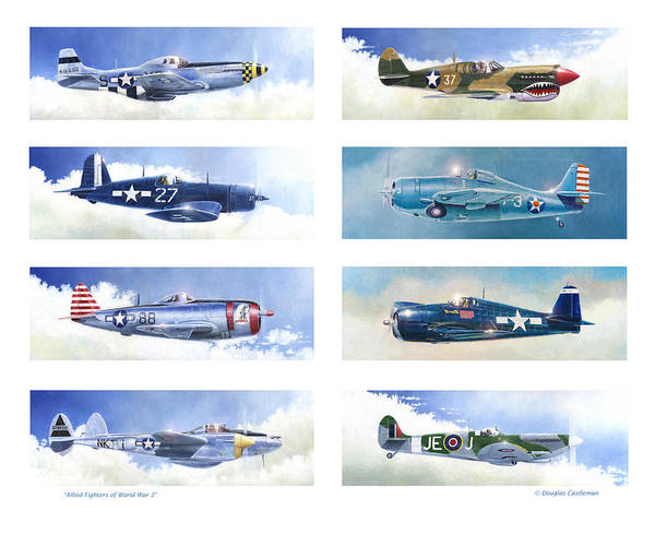 Allied Fighters Of The Second World War Poster