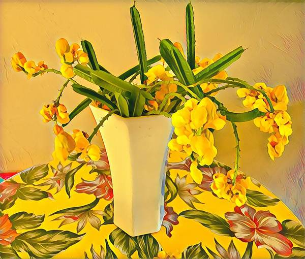 Aloha Bouquet Of The Day - Yellow Wild Flowers Poster