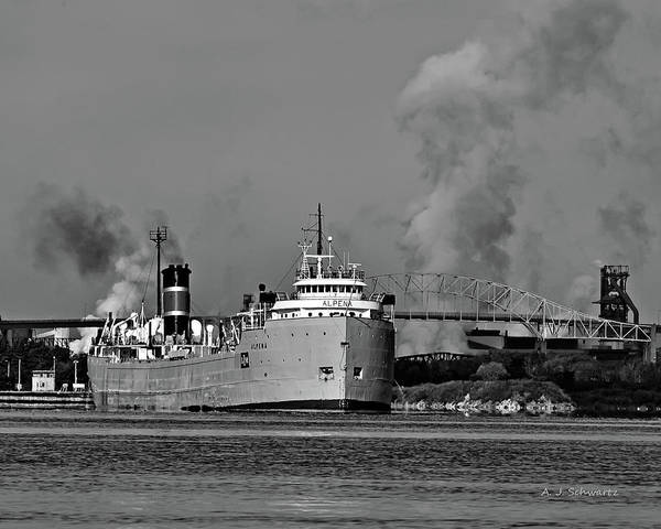 Alpena Freighter Poster