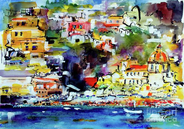Amalfi Coast Positano Summer Vibrations Poster