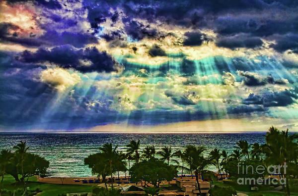 Amazing Grace - Sun Rays Before Sunset By Diana Sainz Poster