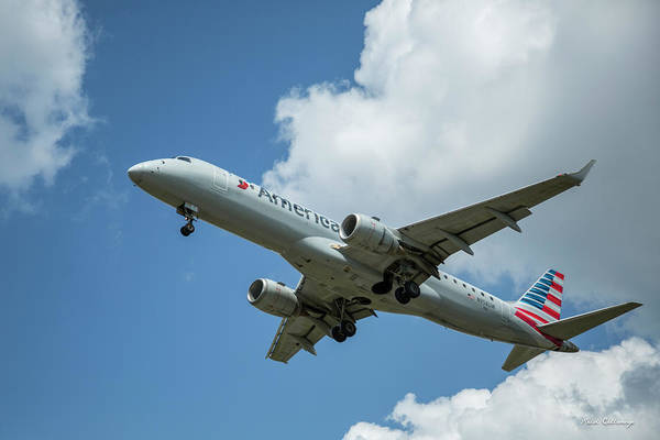 American N958 U W Embraer 190 Atlanta Hartsfield-jackson International Airport Art Poster
