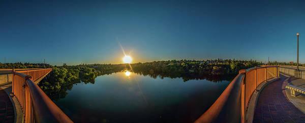 American River At Sunrise - Panorama Poster