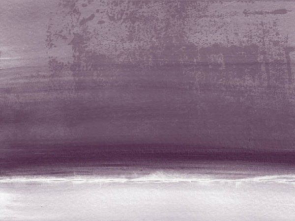 Amethyst Shoreline- Abstract Art By Linda Woods Poster