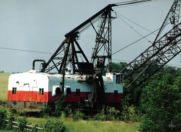 Abandoned Dragline Excavator In Amish Country Poster