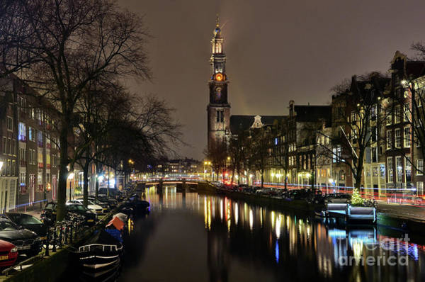 Amsterdam By Night - Prinsengracht Poster