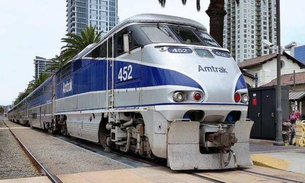 Amtrak F59 At San Diego Poster