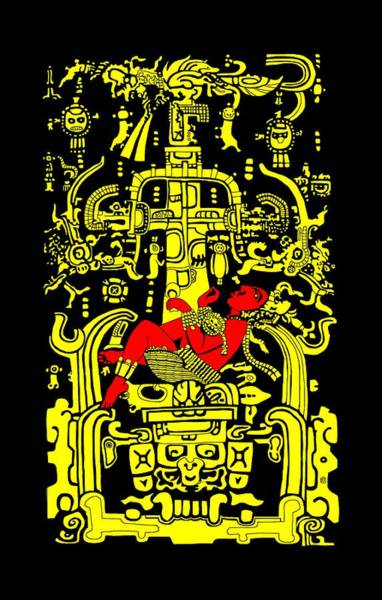 Ancient Astronaut Yellow And Red Version Poster