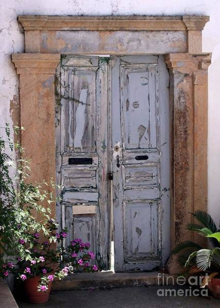 Ancient Garden Doors In Greece Poster