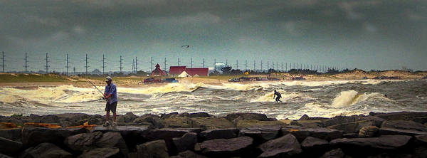 Angry Surf At Indian River Inlet Poster