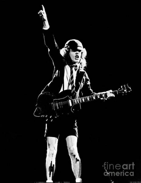 Angus Young Of Ac/dc 1983 Poster