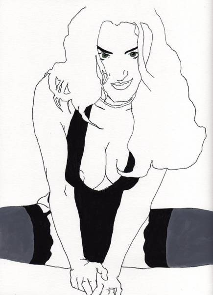 Anna-black Stockings Poster